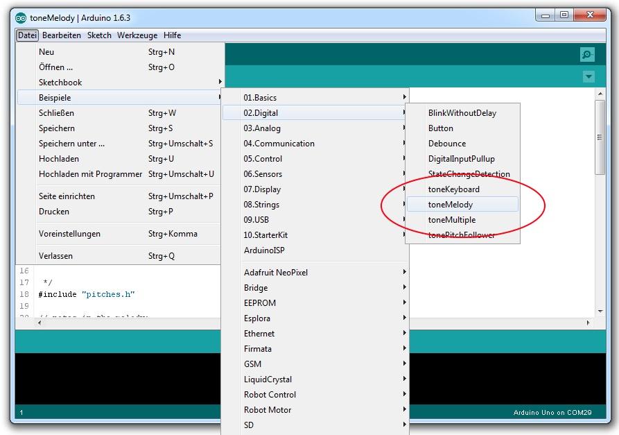arduino-lautsprecher-software